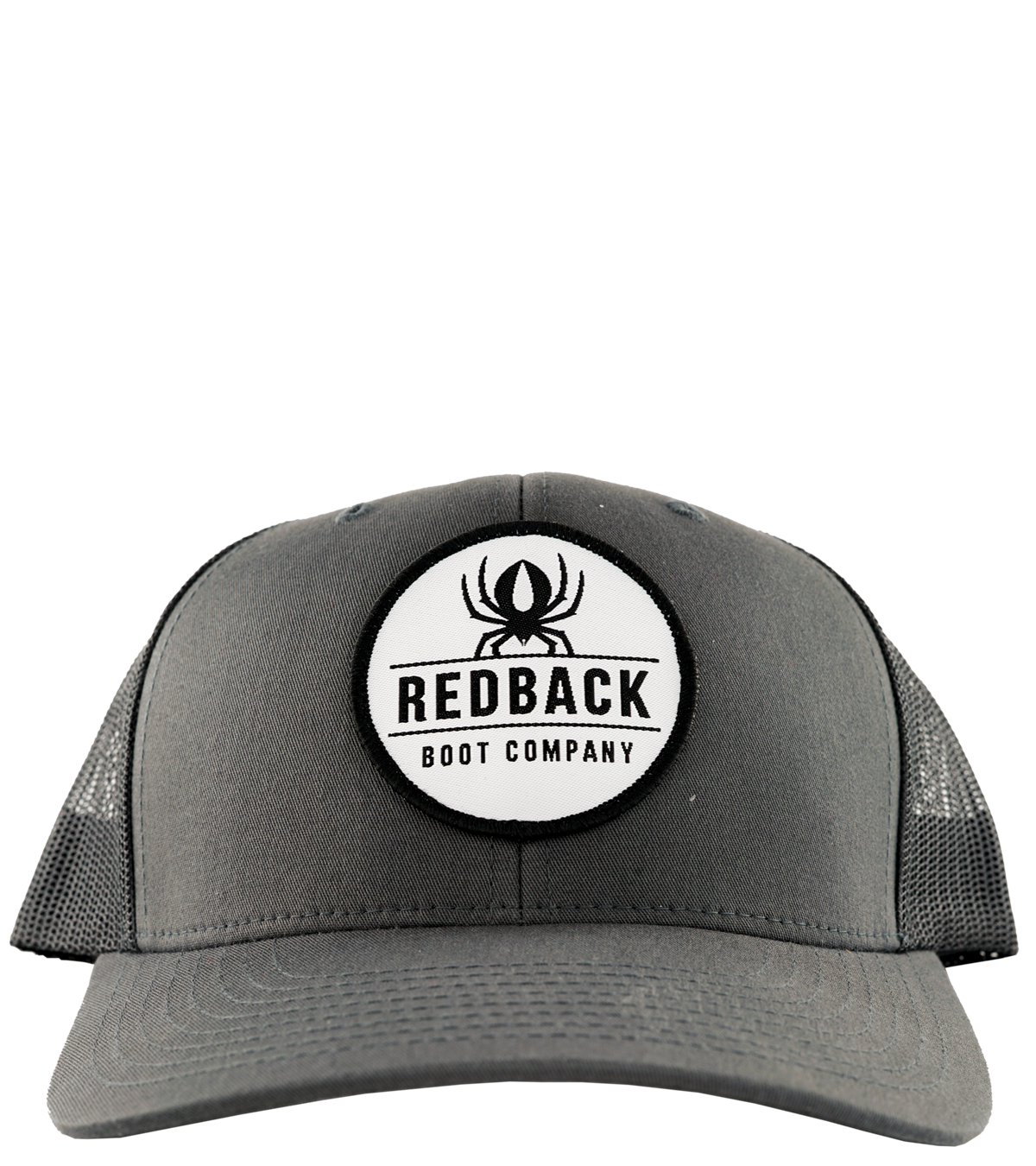 Retro Trucker Charcoal - Front